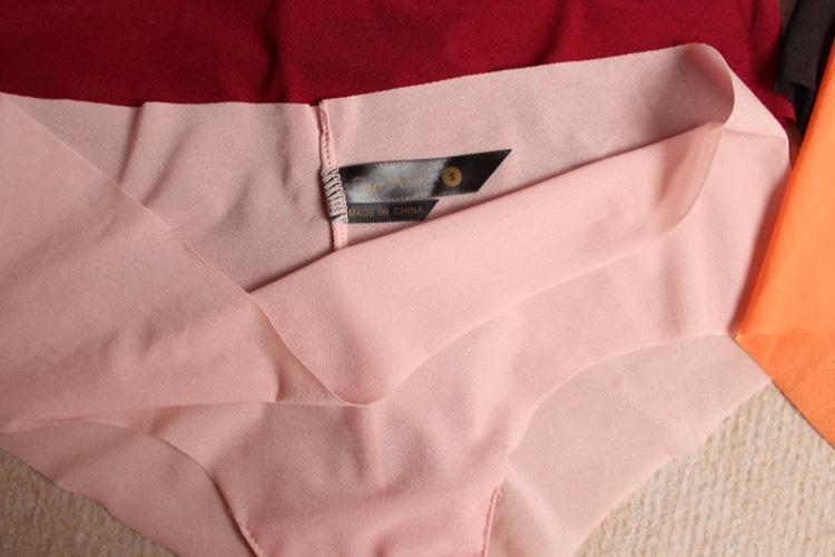 Plus panties a new underwear low waist briefs sexy gauze ultra thin seamless transparent permeability to