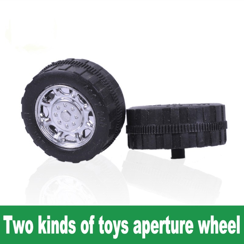 Wheel Plastic wheels Toy accessories technology small production 2mm diameter aperture two kinds of shipping(China (Mainland))