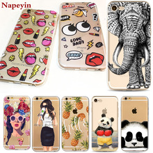 Buy Animals Cartoon Cute Panda Girls Case iphone 7 6 6s Plus 7Plus 6Plus 5 5s SE soft silicone landscape lips Cover bag Cases for $1.22 in AliExpress store