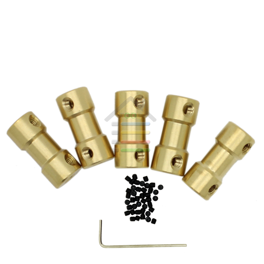 High Quality 10pcs 2 3 3.17 4 5 to 3.17 mm Brass Shaft Motor Flexible Coupling Coupler length 20mm Hobby Hand Tool(China (Mainland))