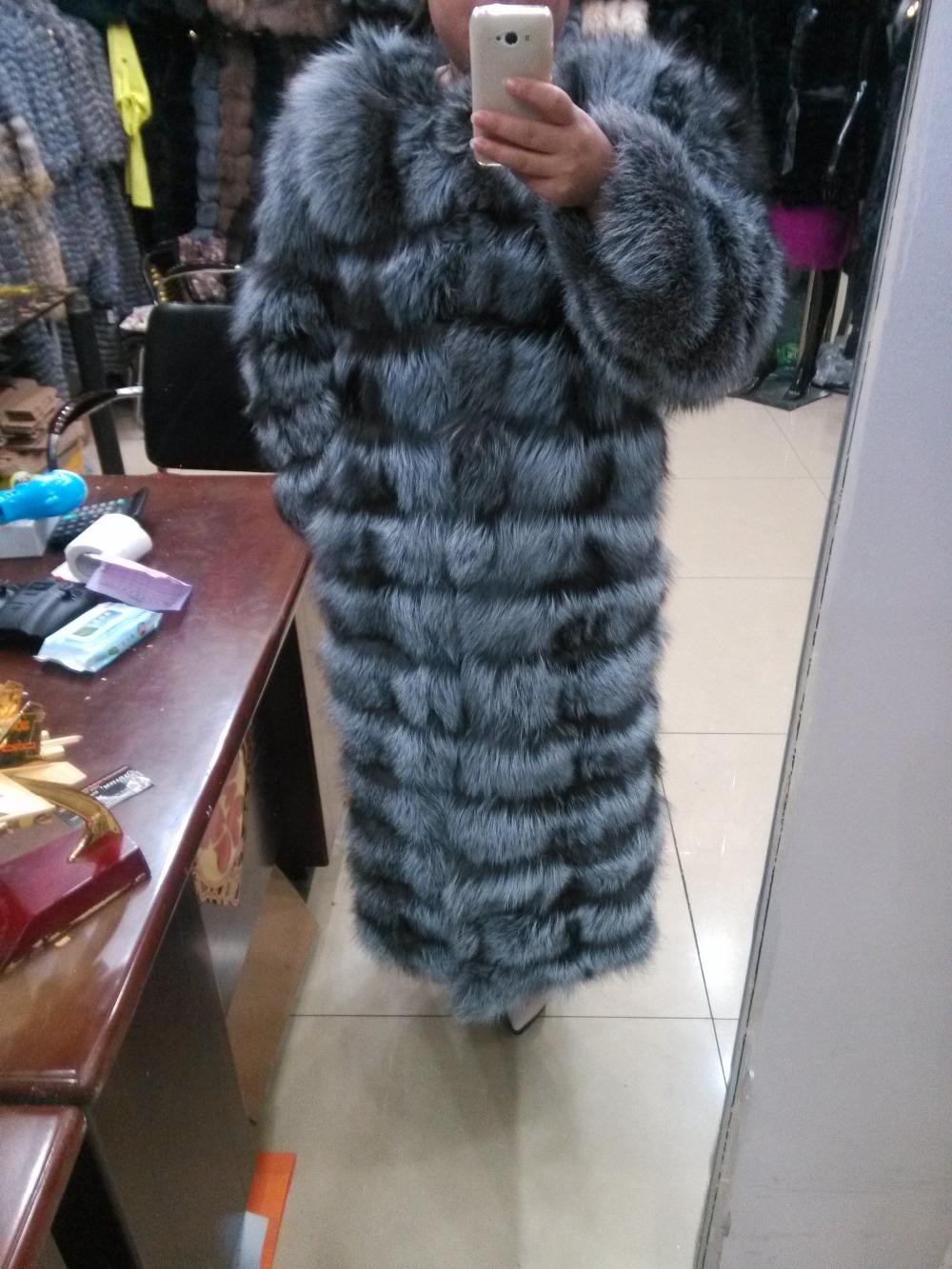 2016The new fashion  Genuine Leather Fox Fur  Zipper   Package mail   Natural Color  Batwing Sleeve  Female coatÎäåæäà è àêñåññóàðû<br><br>