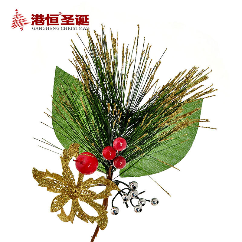 2015 Xmas tree flower cuttings decorations for home cristmas decoration artificial Christmas tree ornaments craft supplies(China (Mainland))
