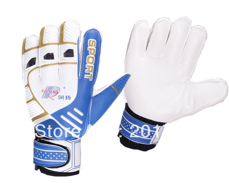 Freeshipping Football goalkeeper gloves,Pro Non-slip goaltender gloves,,high quality soccer goal-keeper kit(China (Mainland))