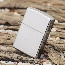 1pcs classic men smooth Polished  Mirror Metal Oil  Cigarette lighter Smoking cool smoking cigar flint kerosene Lighters silver