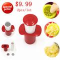 2016 Free Shipping New Ginger Garlic Manual Press Twist Cutter Crusher Cooking Tools Plastic Garlic presses