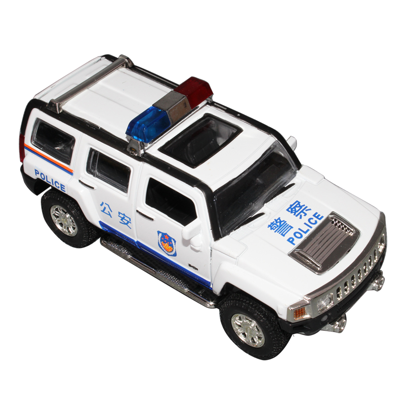 Humvees h3 police car toy best gift for boys alloy car model toy Vehicles car acoustooptical WARRIOR belt free shipping(China (Mainland))