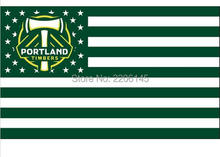 PORTLAND TIMBERS stripe Banner Bandera USA Soccer MLS Flag 3x5FT Custom Flag 90x150cm white sleeve with 2 Metal Grommets(China (Mainland))
