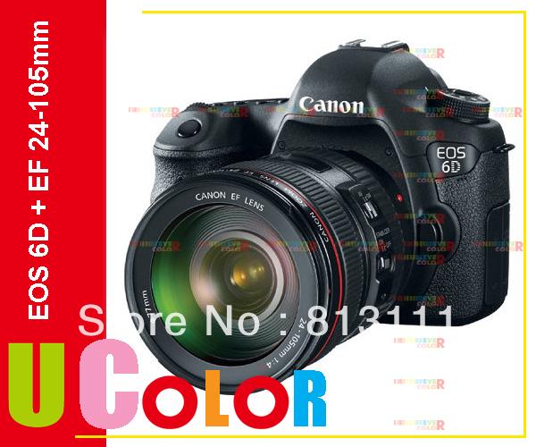 Canon EOS 6D 20.2MP Full Frame DSLR Camera Body + EF 24-105mm F4 L IS Lens Kit(Hong Kong)