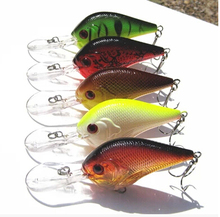Free shipping 5pcs/lot  long-tongued Fat crank baits minnow fishing lures pesca lures 9.5cm/11g  Dive deep 0.8-3.5 m