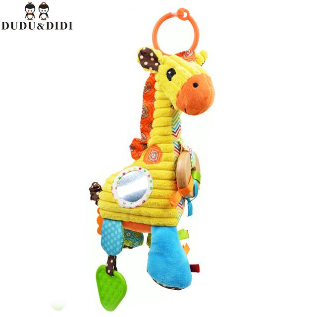Новый горячий высокое качество жираф ребенок плюшевые игрушки погремушки многофункциональный тянуть музыку успокоить игрушка кровать повесить WJ177