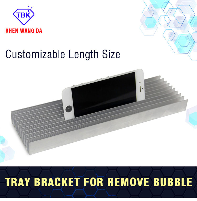 TBK Mobile Phone Screen LCD Bubble Remove Machine Interior Aluminum Metal Holder Tray 26cmx7cmx3cm(China (Mainland))