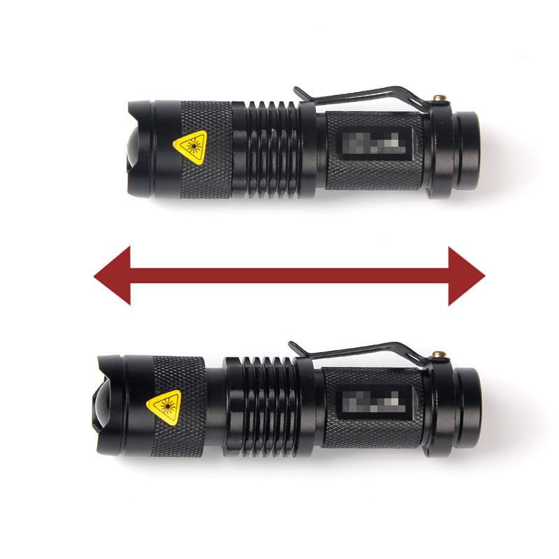 3W 1000LM 3 Modes LED Torch CREE Q5 LED Flashlight Adjustable Focus tactical Torch 14500 Zoom Flash Light Lamp Super Mini(China (Mainland))