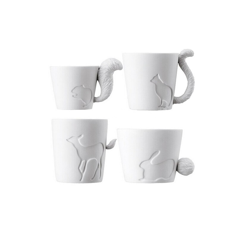 2pcs lot Japan Kinto Authentic Candle Light Relief Forest Animal Mugs Ceramic Bone China Coffee Cups