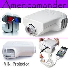200lumens Mini Projector Multimedia LED Projector Home Education Cinema Video Support AV TV VGA HDMI USB TF Card(China (Mainland))