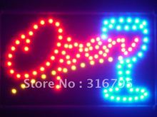 led024-r OPEN Cocktail LED Neon Light Sign Whiteboard(China (Mainland))