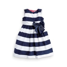 Baby Girl Dress Kids Outfit Cotton Toddler Clothes Top Bow-knot Plaids Dress 0-3 Years Drop Shipping Kids Clothing Dresses(China (Mainland))