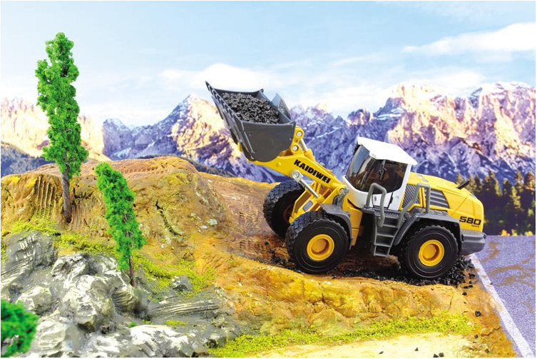 KDIDIWEI Loader Forklift Construction Truck 18*7*6CM 1:50 Alloy Vehicles Toys Gifts Models Collection(China (Mainland))