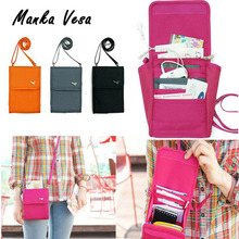 Multifunctional Travel Passport Ticket Cash Wallet Purse Folder Storage Card Holder Cover Case crossbody Organizer Bags Handbag(China (Mainland))