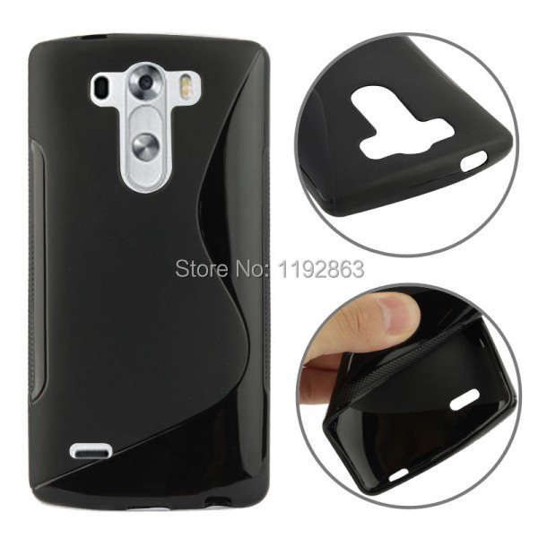 S Line Soft TPU Silicone Matte Anit-Skid Protective Skin Case For LG G3 Mini Back Cover Mobile Phone Bags(China (Mainland))