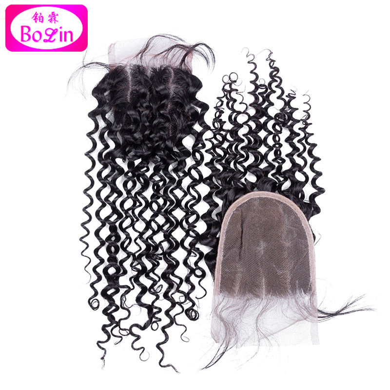 Best Quality Peruvian Human Hair Deep Curly Lace Closure 4x4 Curl Top Closure Middle Part Hair Closure Free Shipping<br><br>Aliexpress