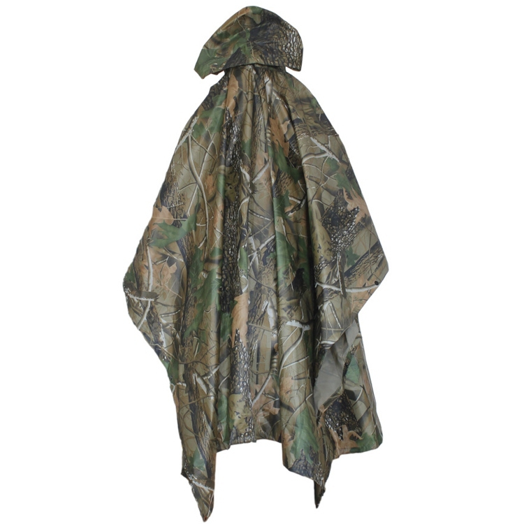 Outdoor Camouflage Raincoat Jungle Multifunctional Poncho Hunting Hiking Camping Poncho Mats Nylon Scratch-resistant Rain Coat(China (Mainland))