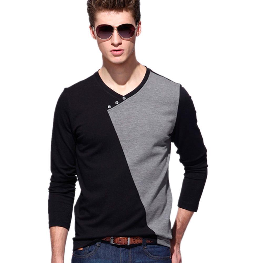 Buy fashion new mens casual shirts long for Buy mens long sleeve t shirts