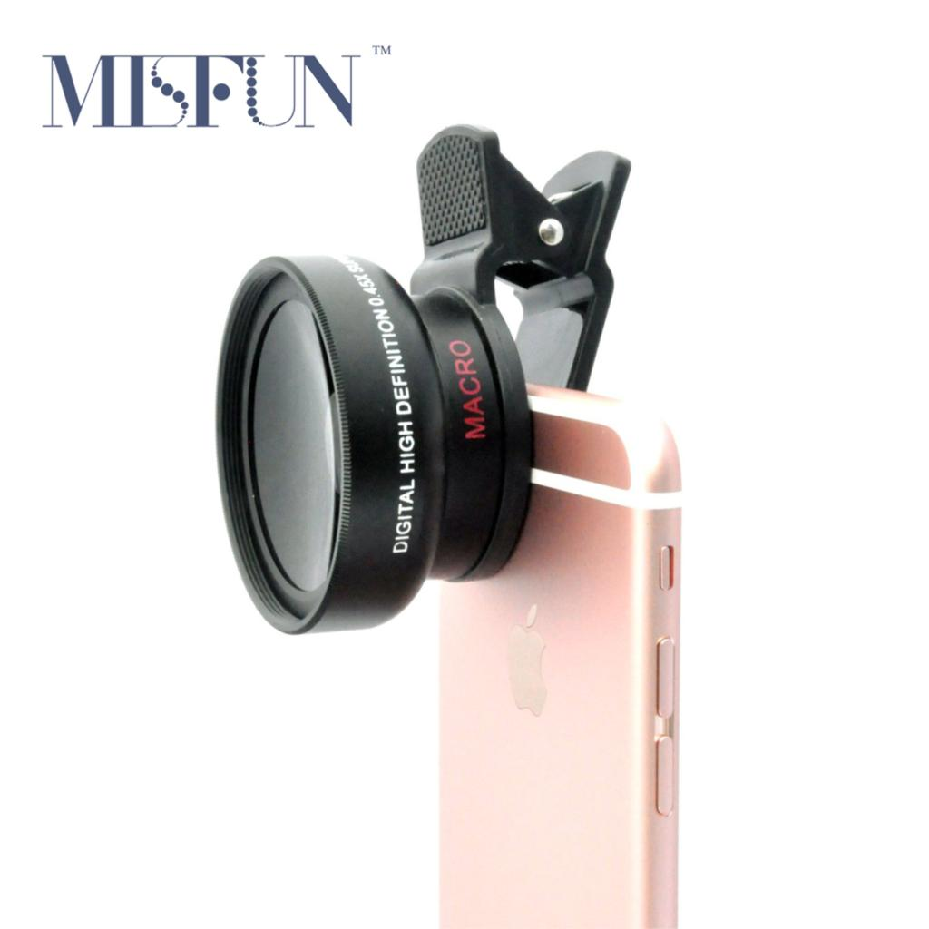Universal Professional HD Camera Lens Kit for iPhone 5s 6 6s Plus Android Mobile Phone 0.45x Super Wide Angle Lens + Macro Lens(China (Mainland))