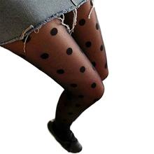 Женская мода черный сексуальное отвесное кружева колготки большая точка колготки тонкие чулки колготки розница/опт 5494