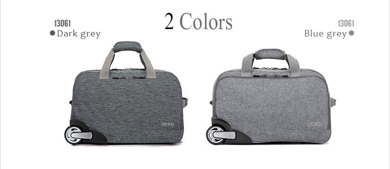 YESO Trolley Travel Bag Hand Luggage 20 Inch 32L Rolling Duffle Bags ... dd60028dc8d67
