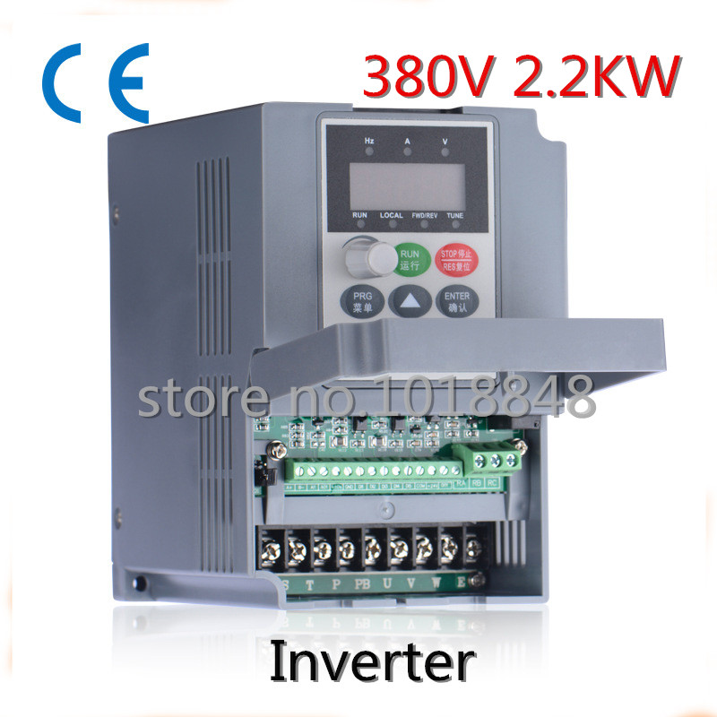 380V 2.2kw 5.1a Frequency Drive Inverter CNC Driver CNC Spindle motor Speed control,Vector converter(China (Mainland))