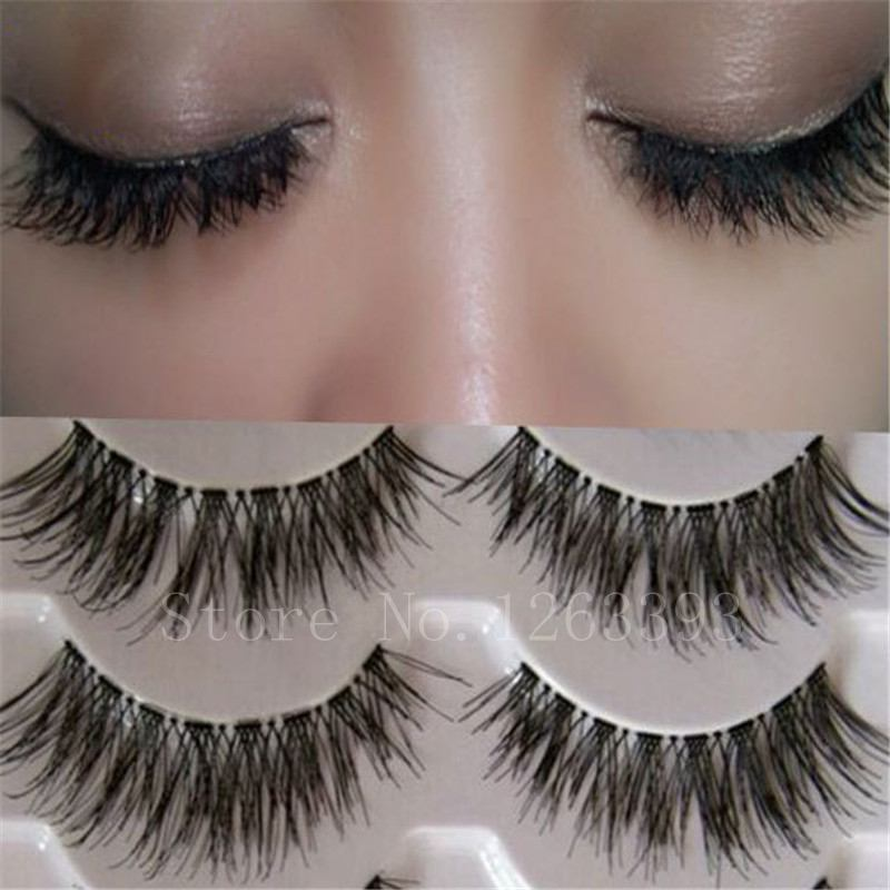 K03Transparent False Eyelashes Messy Cross Thick Natural Fake Eye Lashes Professional Makeup Tips Bigeye Long False Eye Lashes(China (Mainland))