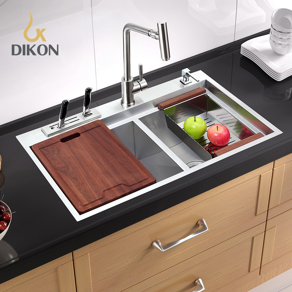 Dikon inoxidable 304 acero inoxidable fregadero de la for Fregaderos de acero inoxidable para cocina
