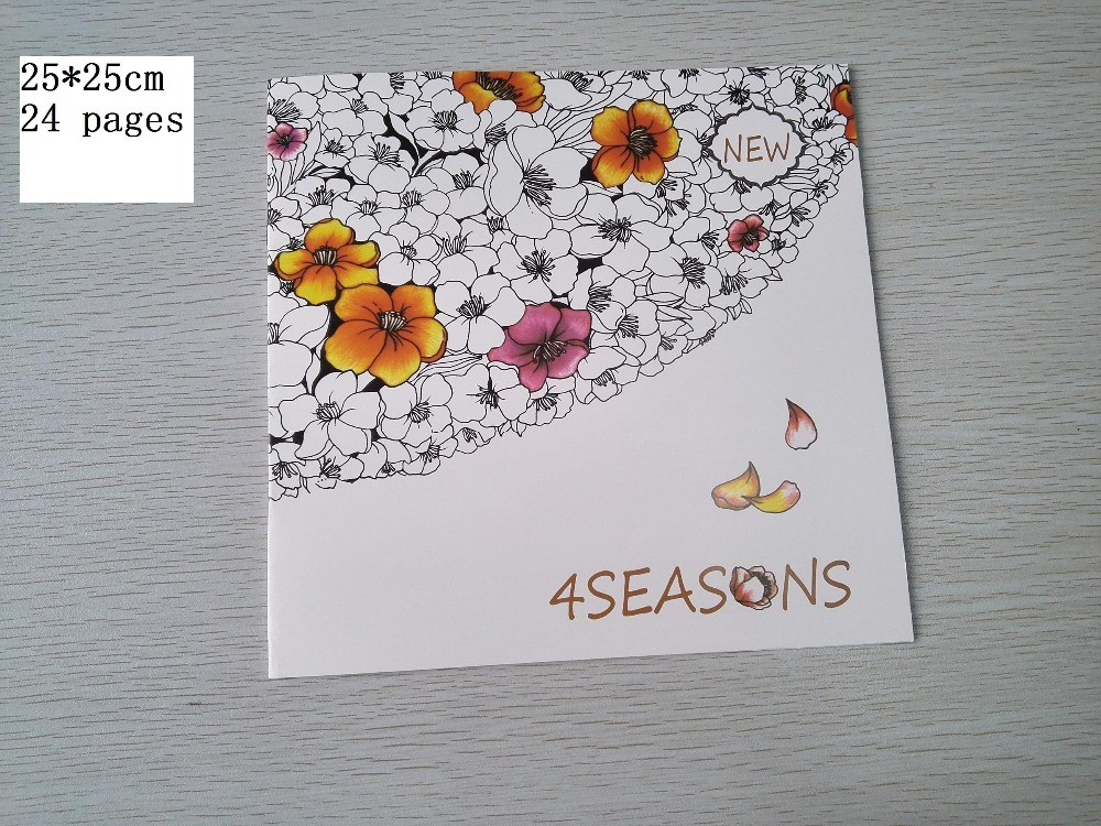 English Edition 4 Seasons Coloring Book 24 Pages Secret