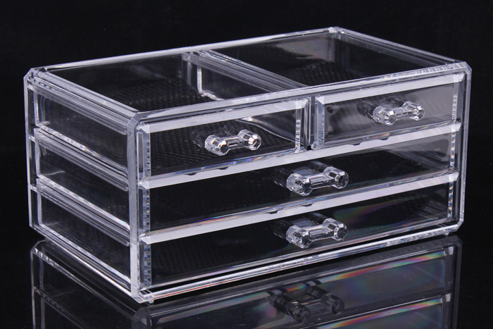 Acrylic Cosmetic Storage Organizer Drawer Makeup Jewelry Case Storage Insert Holder Box