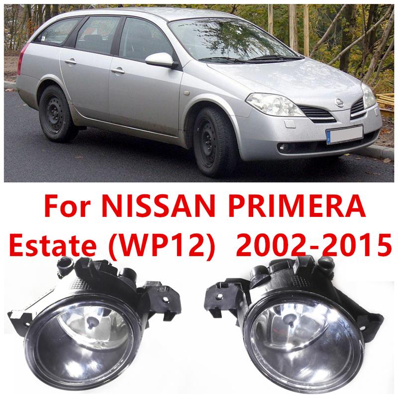 For NISSAN PRIMERA Estate (WP12) 2002-2015 Car Styling Front Bumper Halogen Fog Lights High Brightness