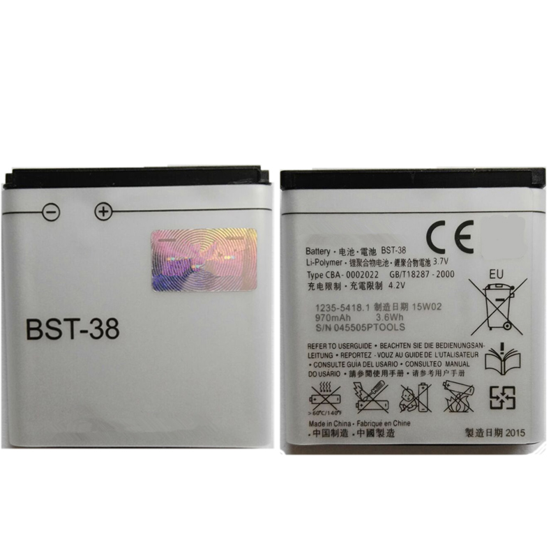 Free Shipping Original Rechargeable Phone Battery BST-38 For Sony Ericsson W580 W580i w760 T650 X10 BST38 Bateria High Quality(China (Mainland))