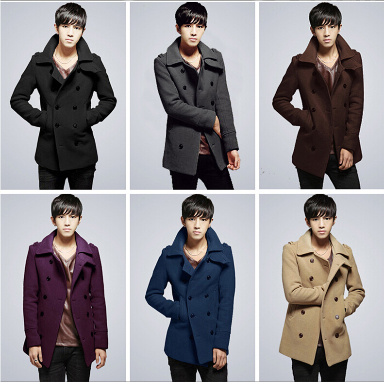 men's winter coat double-breasted jacket men cultivating warm wool - Professional fashion garment factories store