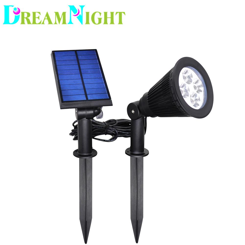 4 LED Solar Waterproof 200 Lumens Landscaping Spotlight Lights In-Ground Bulb Outdoor Wall lamp Lighting(China (Mainland))