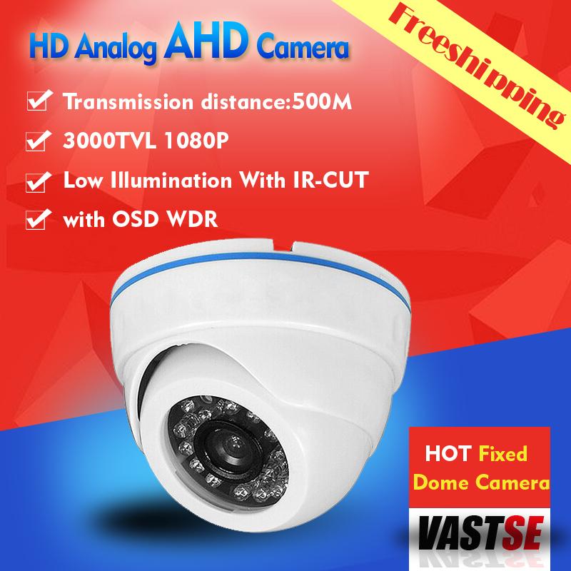 1920*1080 MINI AHD-H 2.0MP HD Analog bnc camera plastic room dome indoor 24IR Night Vision HD Lens cameras de seguranca(China (Mainland))