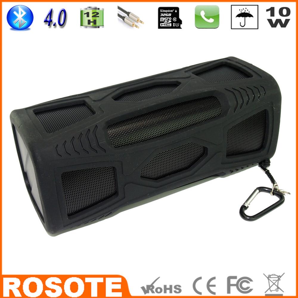 Free Shipping 2015 Waterproof 10W Super Bass Portable HI-FI bassboomz thin underwater Bluetooth 4.0 speaker(China (Mainland))