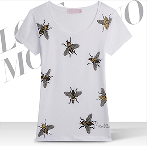European Style 3 D Bees Printed Summer 2014 New Tee O-Neck Short Sleeves Cotton Women T Shirt Tops Plus Size M-XXXL - Top Fashion NO.1 store