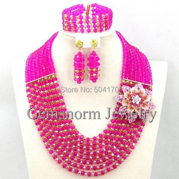 Fantastic Wedding African Beads Jewelry Set African Costume Gold Jewelry Sets Indian Bridal Beads Free Shipping GS990(China (Mainland))