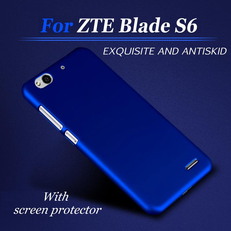 """Simple Case for ZTE Blade S6 Q5 Hard PC Luxury cell phone Back Cover Case +Screen Protector 5"""" inch(China (Mainland))"""