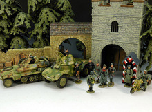 1:30 WWII German SS officer headquarters building armored soldiers scene FM(China (Mainland))