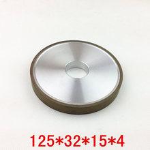 100% concentración Planar forma herramientas de diamante resina rueda de aleación para rectificado de carburo de tungsteno Material de la rueda tamaño 125 * 32 * 15 * 4
