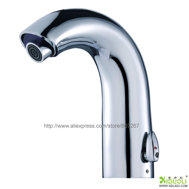 Gooseneck automatic bathroom faucet touchless electronic sink sensor tap for kitchen hotel in - Automatic kitchen faucet ...