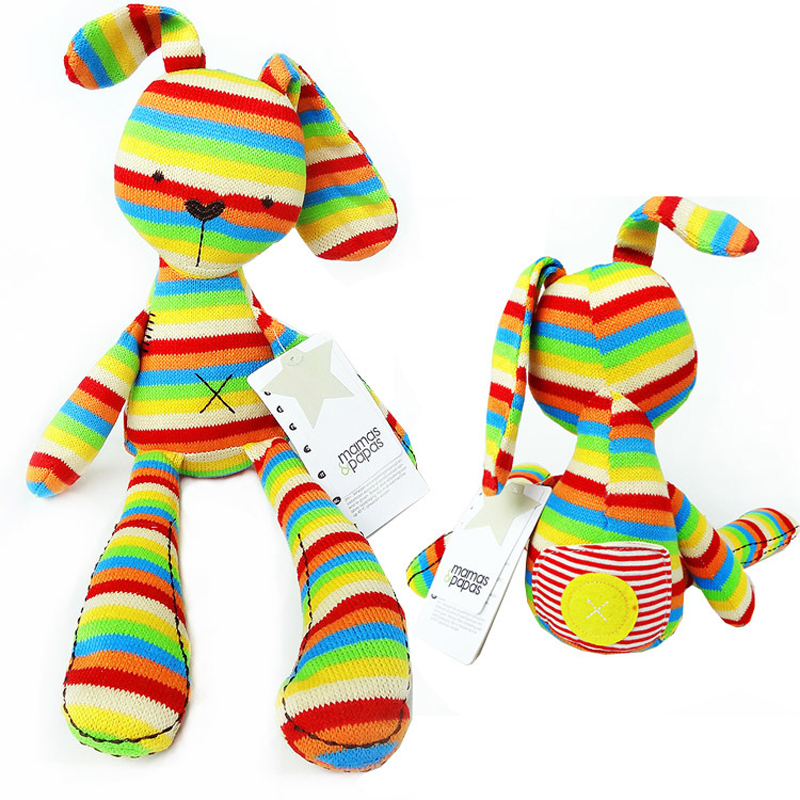Baby Kids 50cm Large Bunny Rabbit Rainbow Colorful Sleeping Comfort Doll Children Cute Plush Toys Lovely Animal Brinquedos Gifts(China (Mainland))