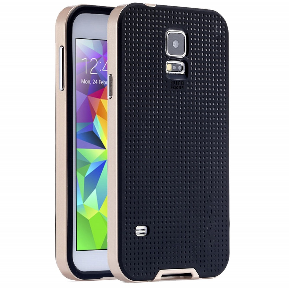 S5 With Brand Logo Dual Layer Neo Armor Case For Samsung Galaxy S5 i9600 Cool Hybrid Slim Back Cover Phone Bags for Samsung S5(China (Mainland))