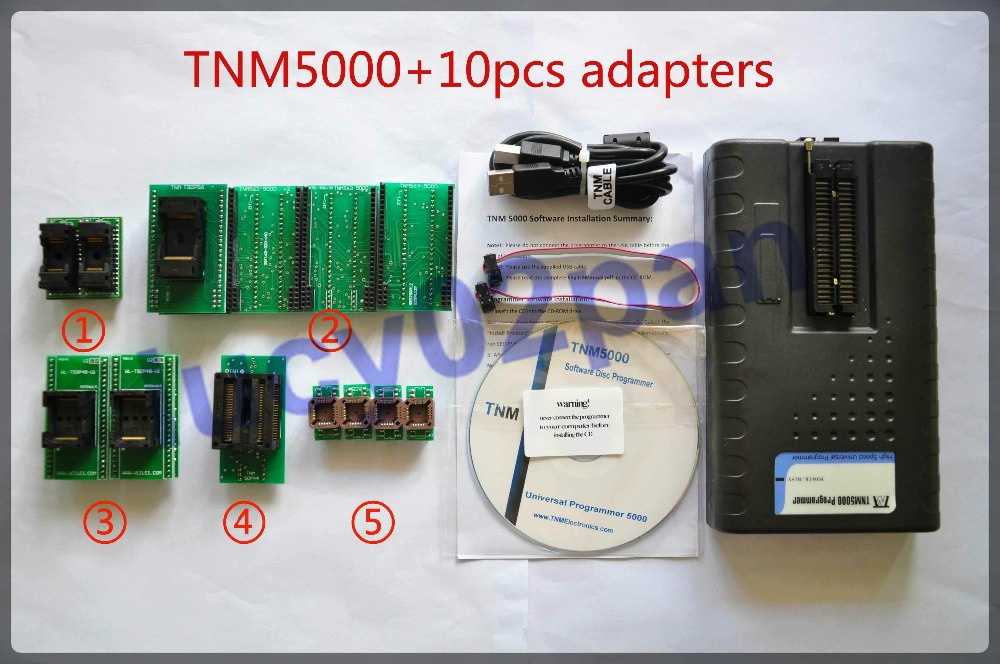 TNM5000 IC Programmer+10pcs socket adapter kit,USB Universal Programmer nand flash programmer,Support Microcontroller,NVRAM,FRAM(China (Mainland))