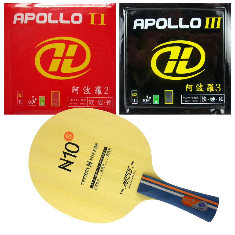 Pro Table Tennis PingPong Combo Racket Galaxy YINHE N10s with Apollo II and Apollo III Factory Tuned(China (Mainland))
